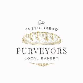 Fresh bread purveyors abstract sign symbol or logo template