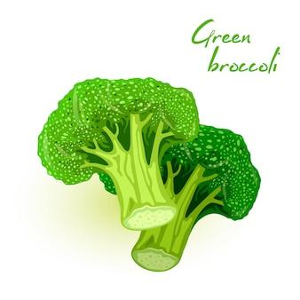 Свежая брокколи. калабрский овощ. ветвистая капуста