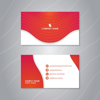 Fresh business card with dynamic fluid shapes composition.
