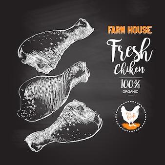 Fresh chicken legs