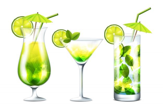 Fresh cocktails illustration