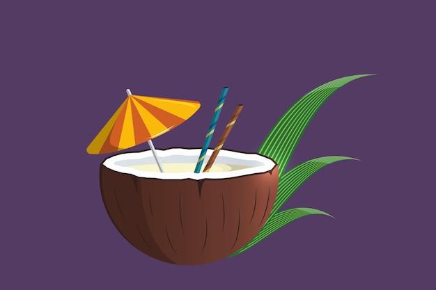 Fresh coconuts summer elements 2021