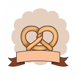 Fresh and delicious bread pretzel