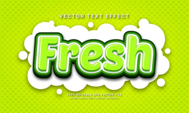 Fresh editable text effect with natural green color theme