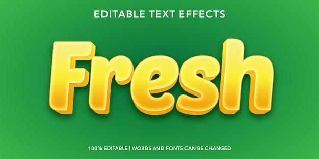 Fresh editable text effect