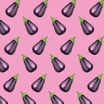 Fresh eggplants vegetables healthy pattern