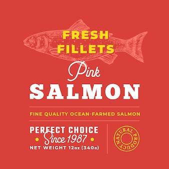 Fresh fillets premium quality label