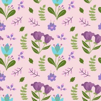 Fresh flower ornament seamless pattern background vector