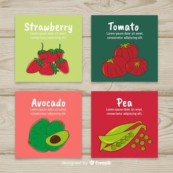 Fresh food card set