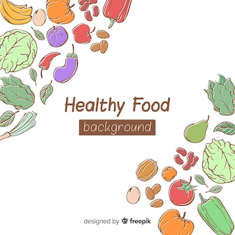 Fresh food corners background