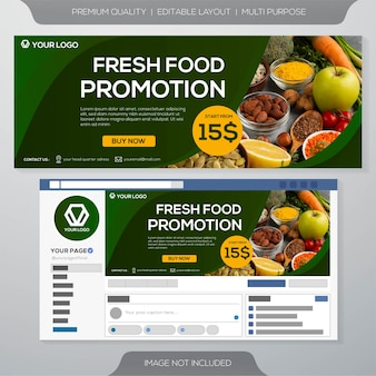 Fresh food culinary banner template