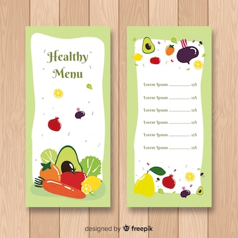 Fresh food menu template