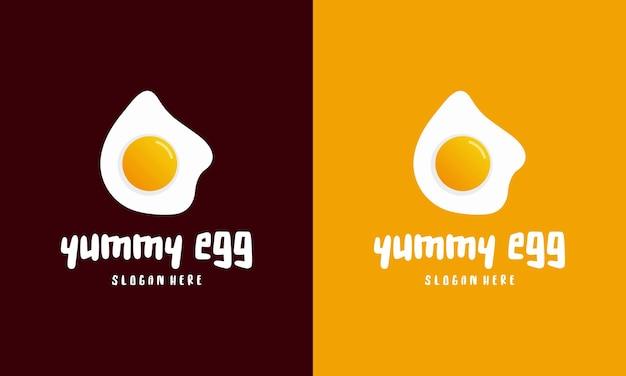신선한 계란 후라이 로고 템플릿 디자인, 맛있는 계란 로고 벡터 일러스트 레이 션