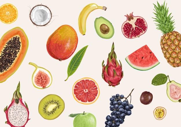 신선한 과일 배경