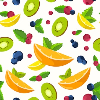 Fresh fruit background