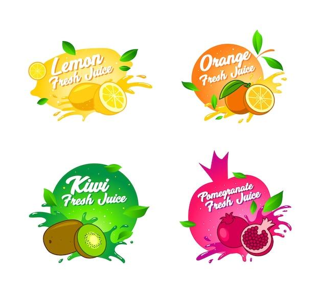 ロゴの新鮮な果物