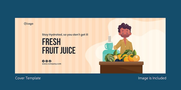 フレッシュフルーツジュースの表紙デザイン