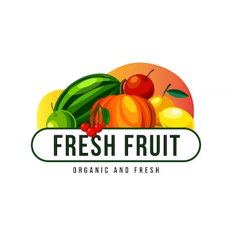 Fresh fruit logo design for mascot