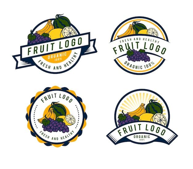 Fresh fruit logo template design