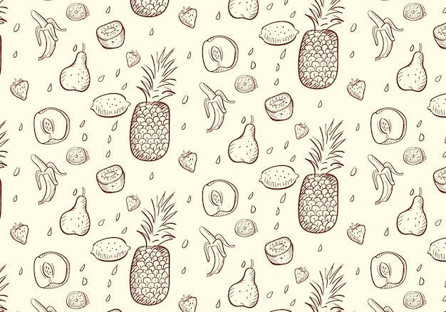 Fresh fruit pattern