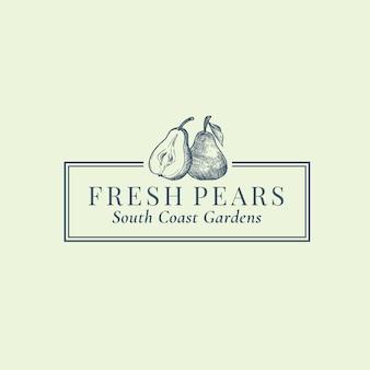 Fresh fruits abstract sign, symbol or logo
