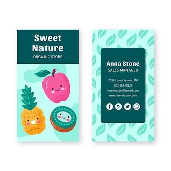 Fresh fruits business card template