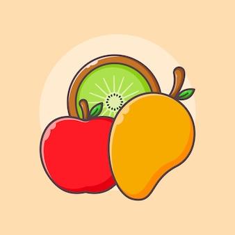 Fresh fruits design template