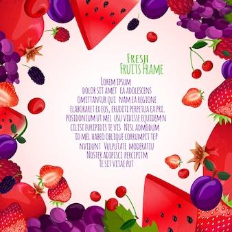 Рамка из свежих фруктов