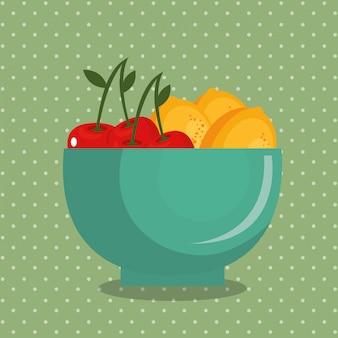 Fresh fruits healthy food