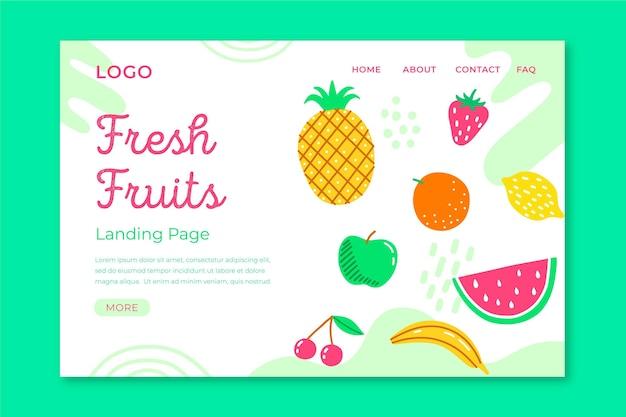 Fresh fruits landing page