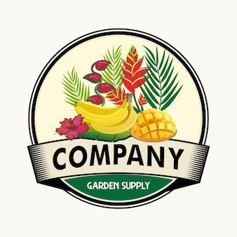 新鮮な果物のロゴ