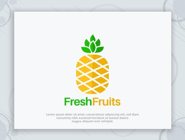 신선한 과일 벡터 로고 디자인