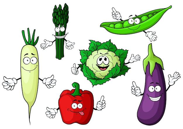 Fresh garden cartoon characters