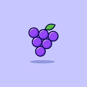 Fresh grape illustration design