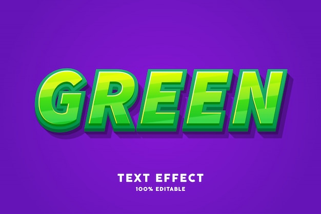 Fresh green candy text effect
