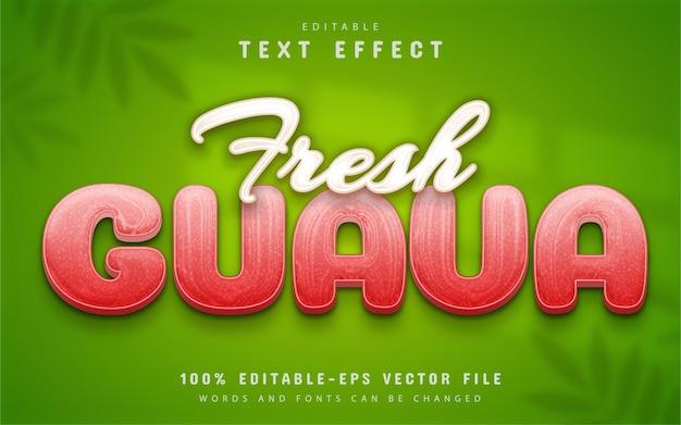 Fresh guava text effect editable