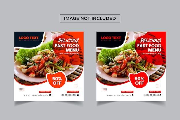 Fresh healthy food social media banner