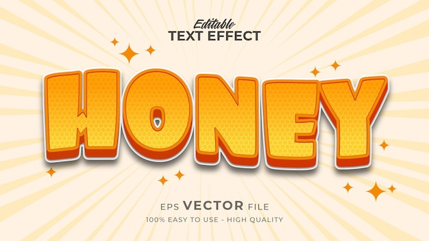 Fresh honey editable text effect