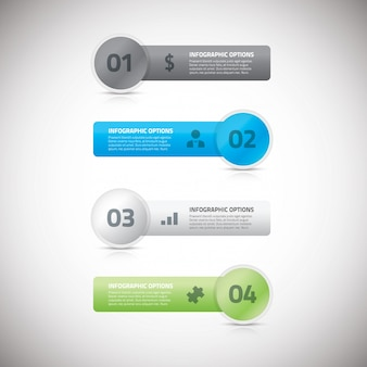Fresh infographic business banners vector eps illustration