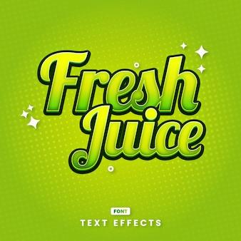 Fresh juice decorative text style