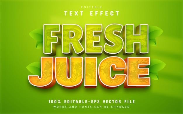 Fresh juice text effect editable