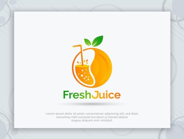 フレッシュジュースのベクトルのロゴデザイン