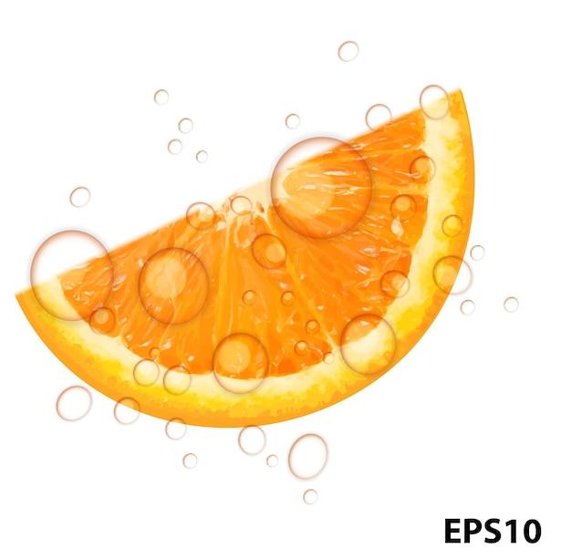 Fresh juicy orange background vector illustration