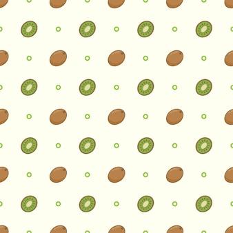 신선한 키위 과일 패턴 배경