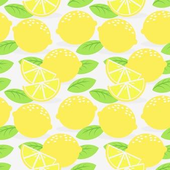 신선한 레몬 과일 원활한 패턴입니다.