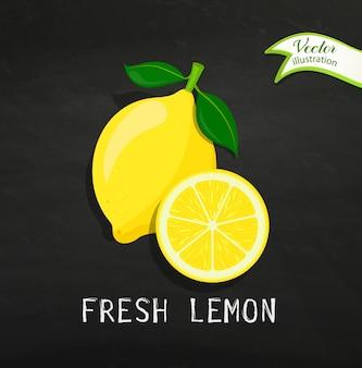 Fresh lemon, vector.