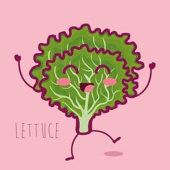 Fresh lettuce vegetable character