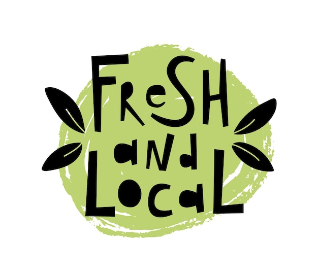 Fresh and local food vector illustration