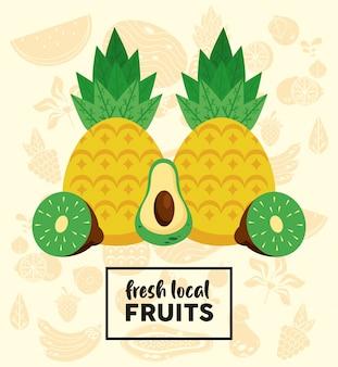 신선한 현지 과일과 파인애플과 과일