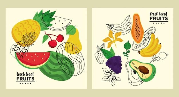 Набор свежих местных фруктов